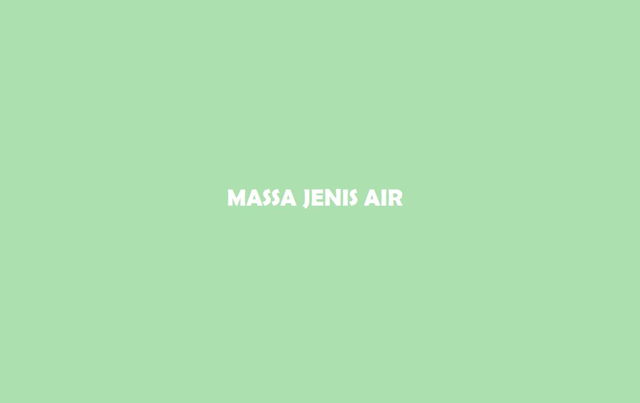 Massa Jenis Air