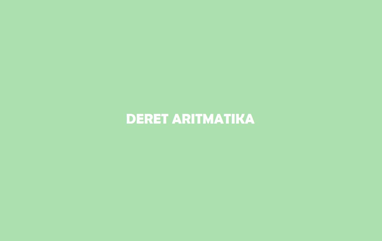 Deret Aritmatika
