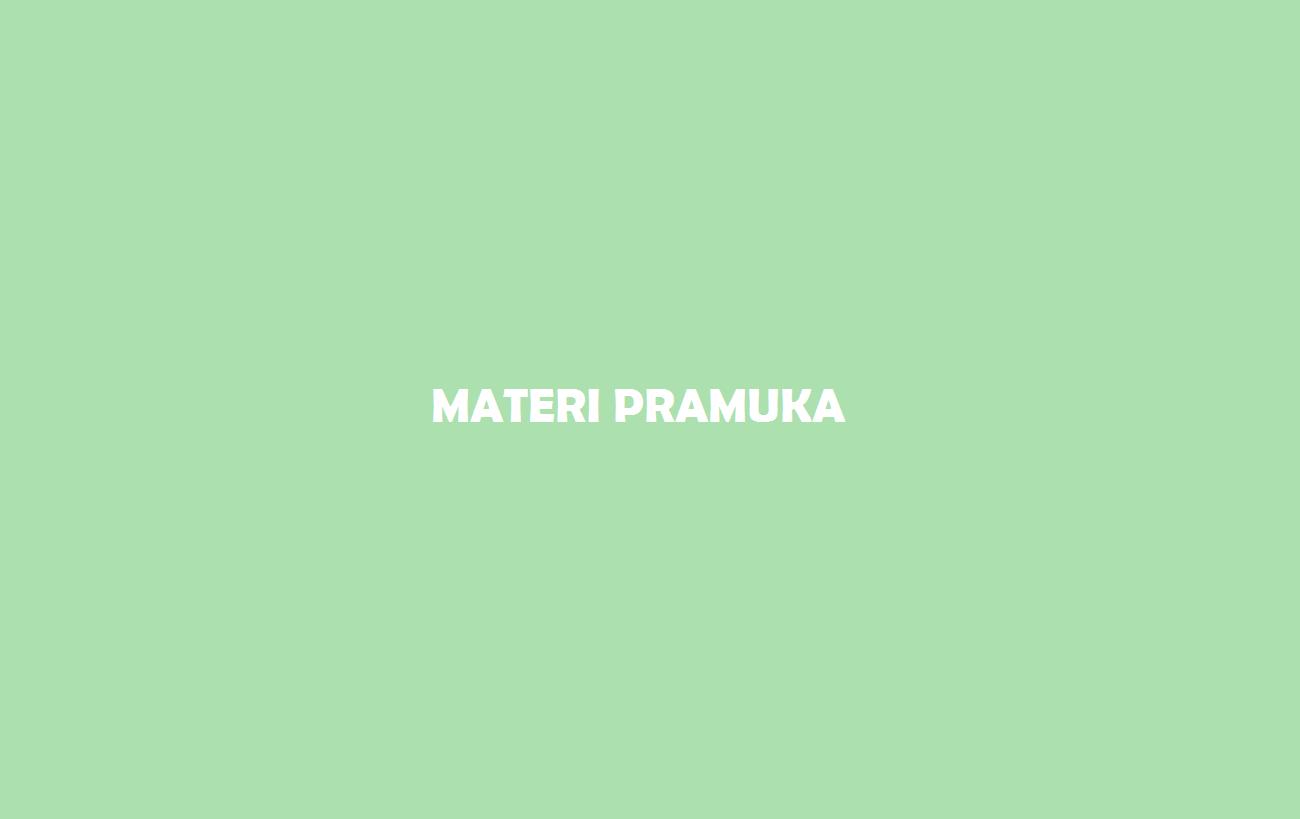 Materi Pramuka