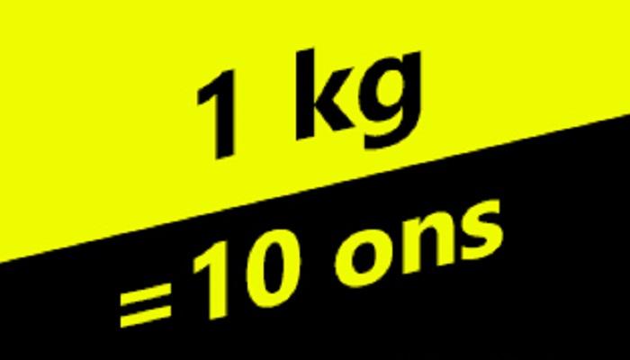 1 kg Berapa Ons