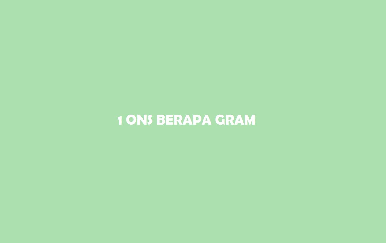 1 ons berapa gram