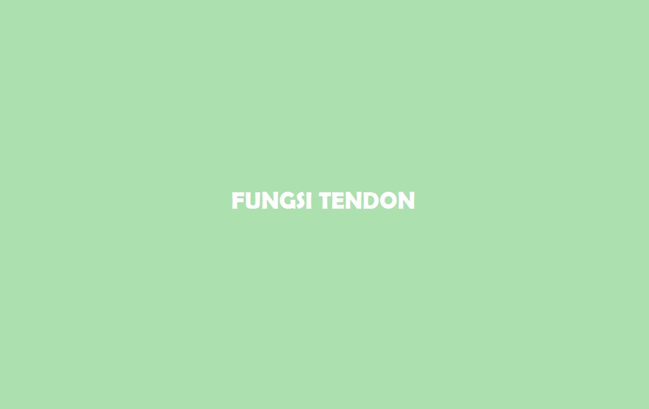 Fungsi Tendon