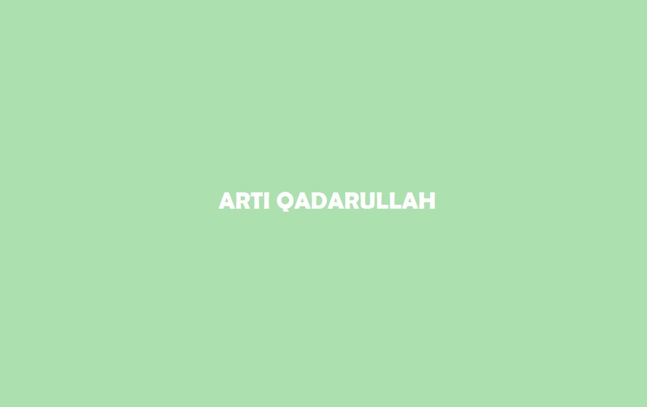 Artii Qadarullah