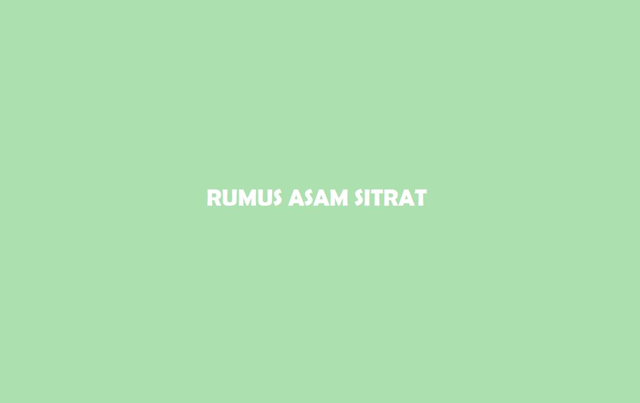 Rumus Asam Sitrat