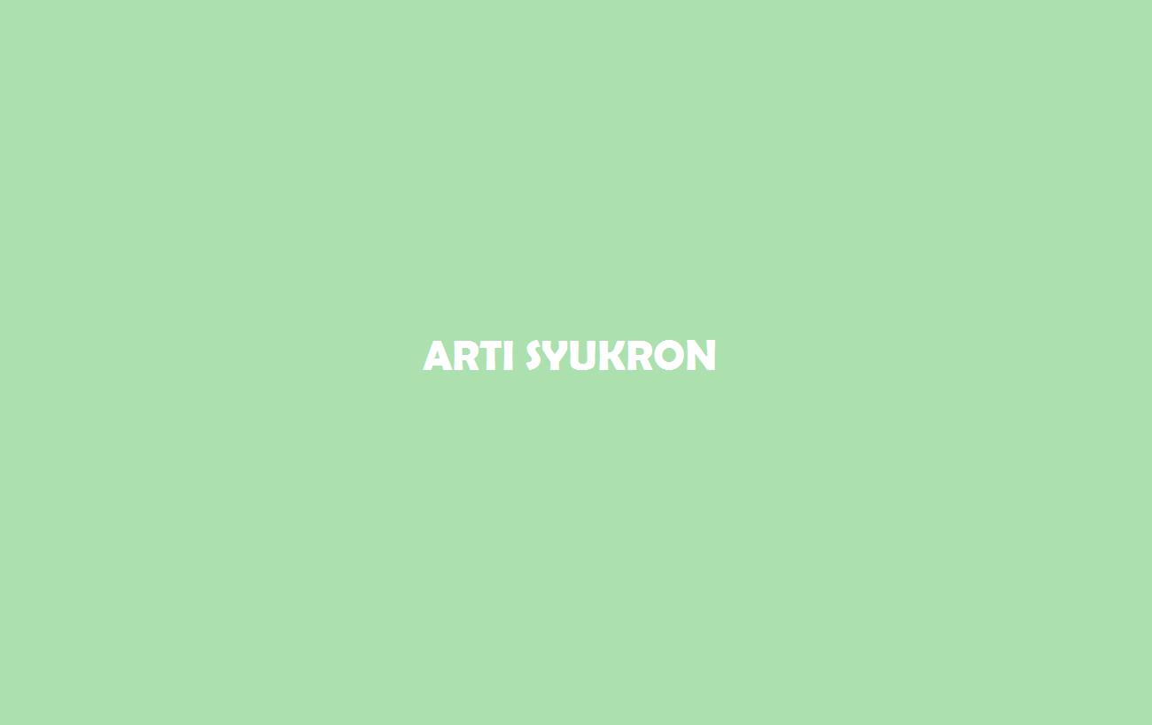 Arti Syukron