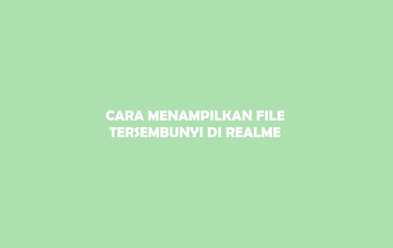 Cara Menampilkan File Tersembunyi di Realme