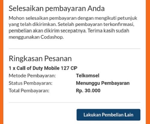 Pembayaran Telkomsel