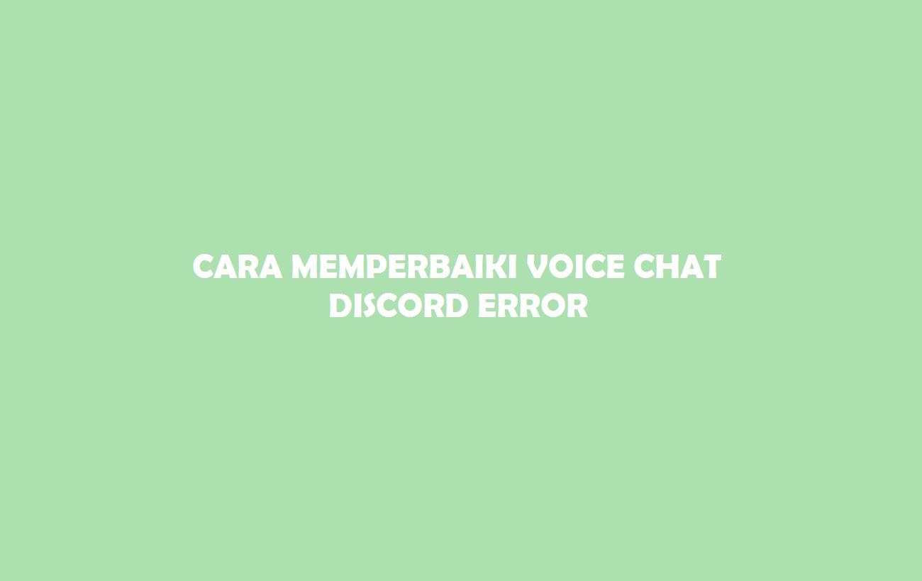 Voice Chat Sicord Error