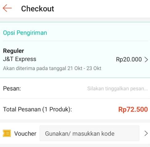 Total Pembayaran Shopee