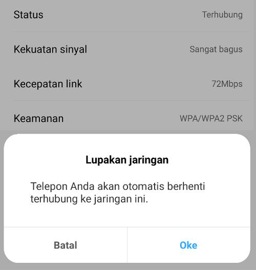 Disconnect Ulang WiFi