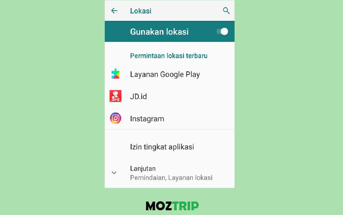 Aktifkan GPS Android