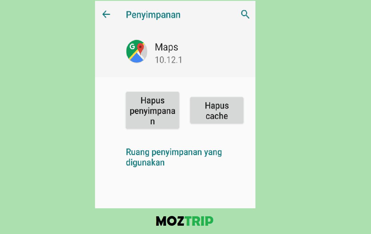 Hapus Cache Google Maps