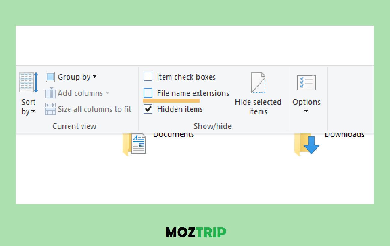 Memunculkan Ekstensi File di Windows